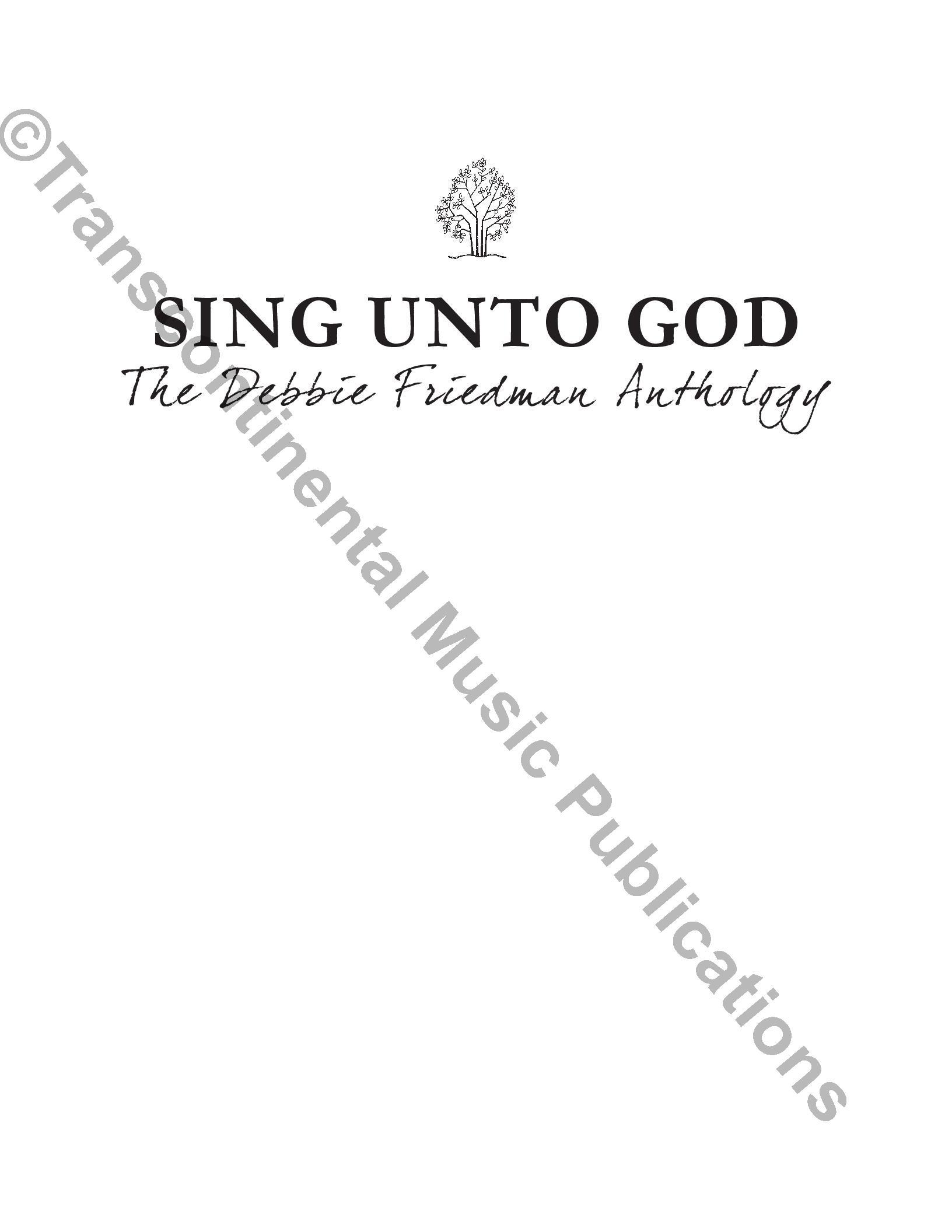 Sing Unto God: The Debbie Friedman Anthology