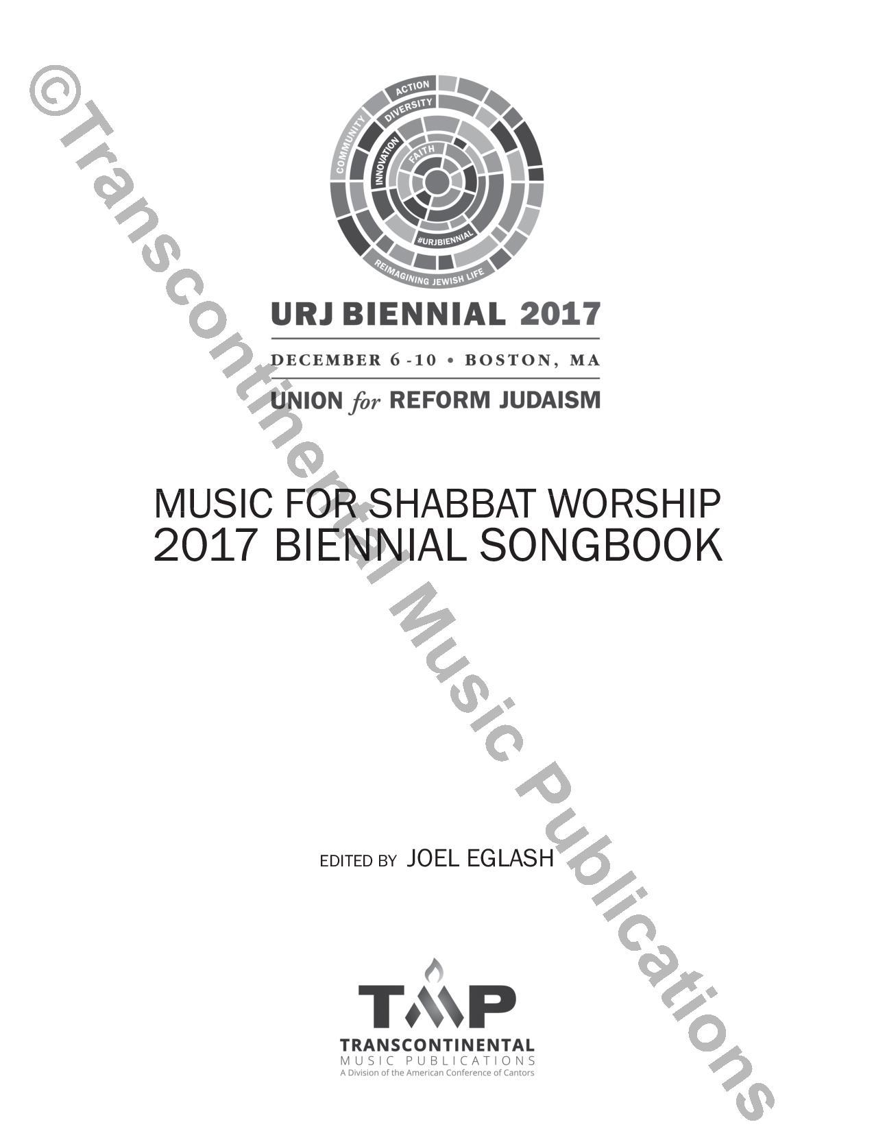 2017 Biennial Songbook